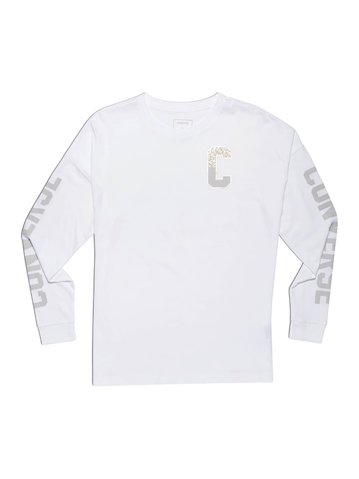 Converse Bluza w kolorze białym
