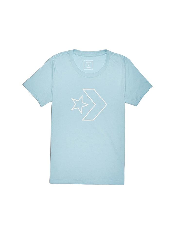 Converse T-shirt w kolorze jasnoniebieskim