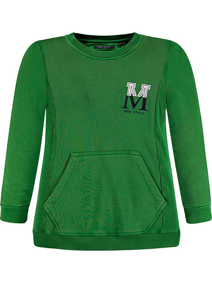 Marc O'Polo Junior Bluza w kolorze zielonym