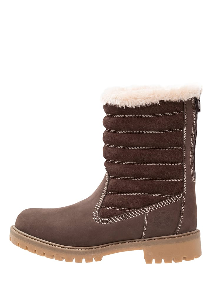 Darkwood Leder-Boots in Braun