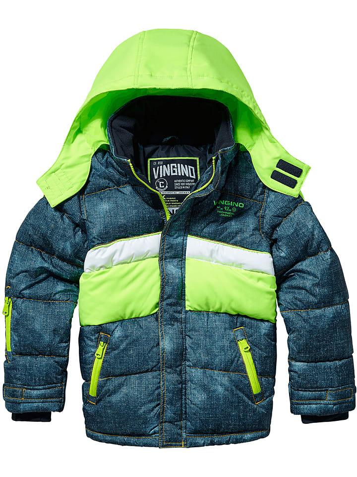 """Vingino Ski-/snowboardjas """"Tatul"""" blauw/limoengroen"""
