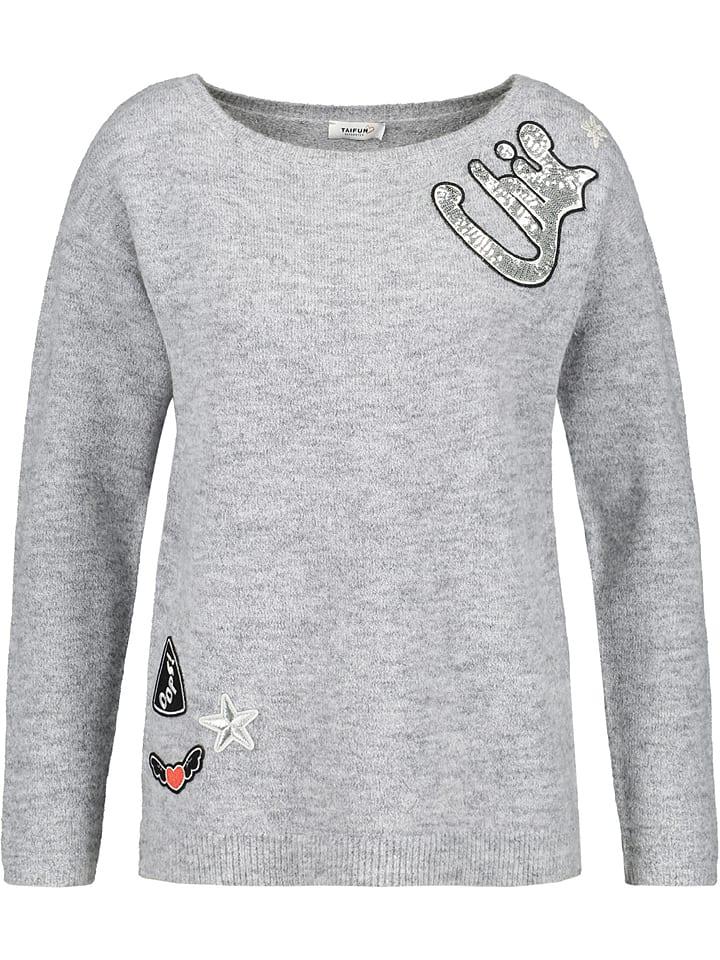 TAIFUN Sweter w kolorze szarym