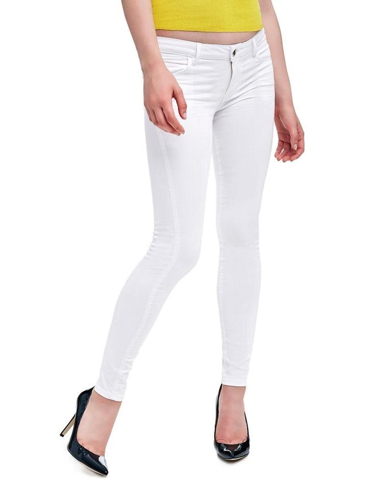 Guess Dżinsy - Super Skinny fit - w kolorze białym