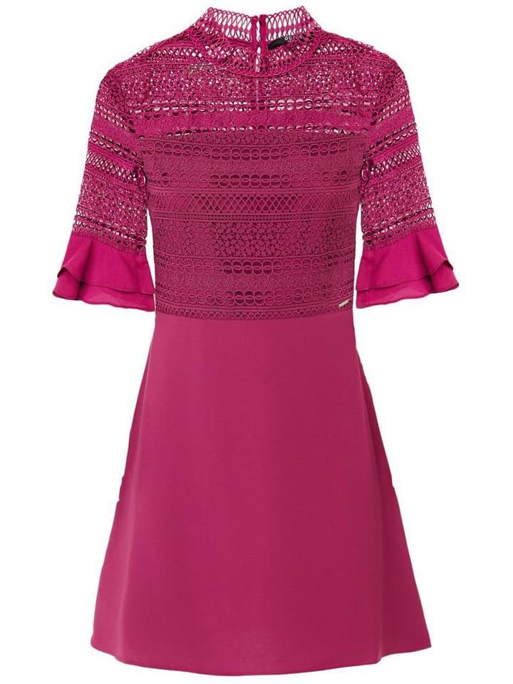 Guess Sukienka w kolorze różowym
