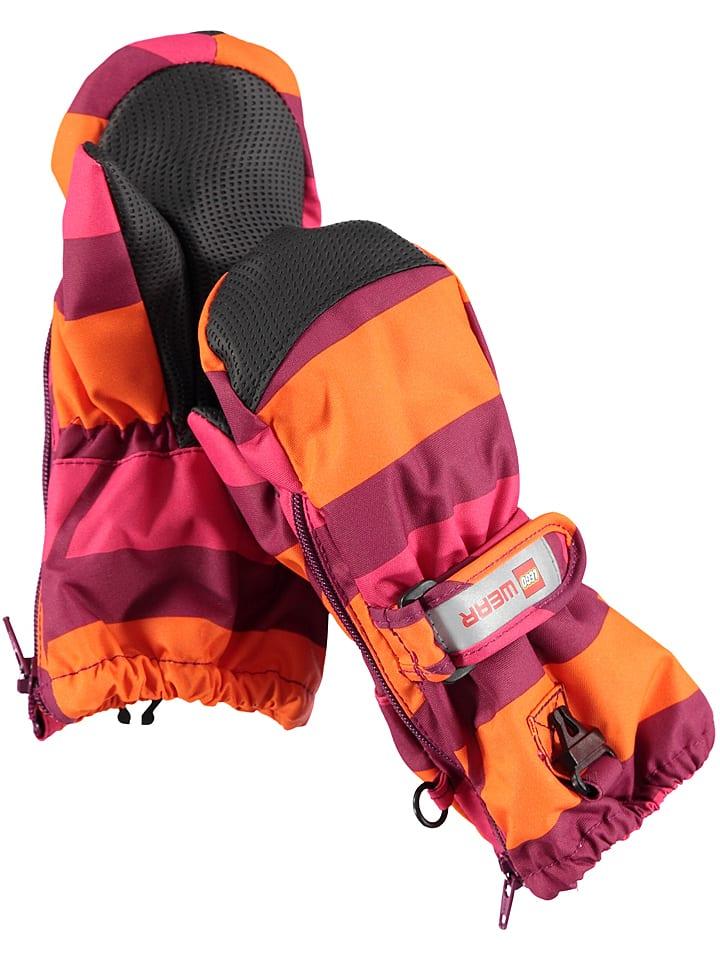 """Legowear Rękawiczki """"Andrew 703"""" w kolorze pomarańczowo-jagodowym"""