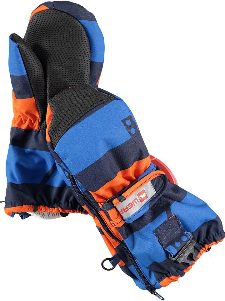 """Legowear Rękawiczki """"Andrew 703"""" w kolorze niebiesko-pomarańczowym"""