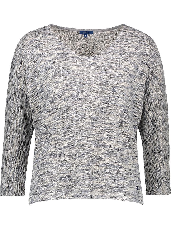 Tom Tailor Sweter w kolorze niebiesko-biało-szarym