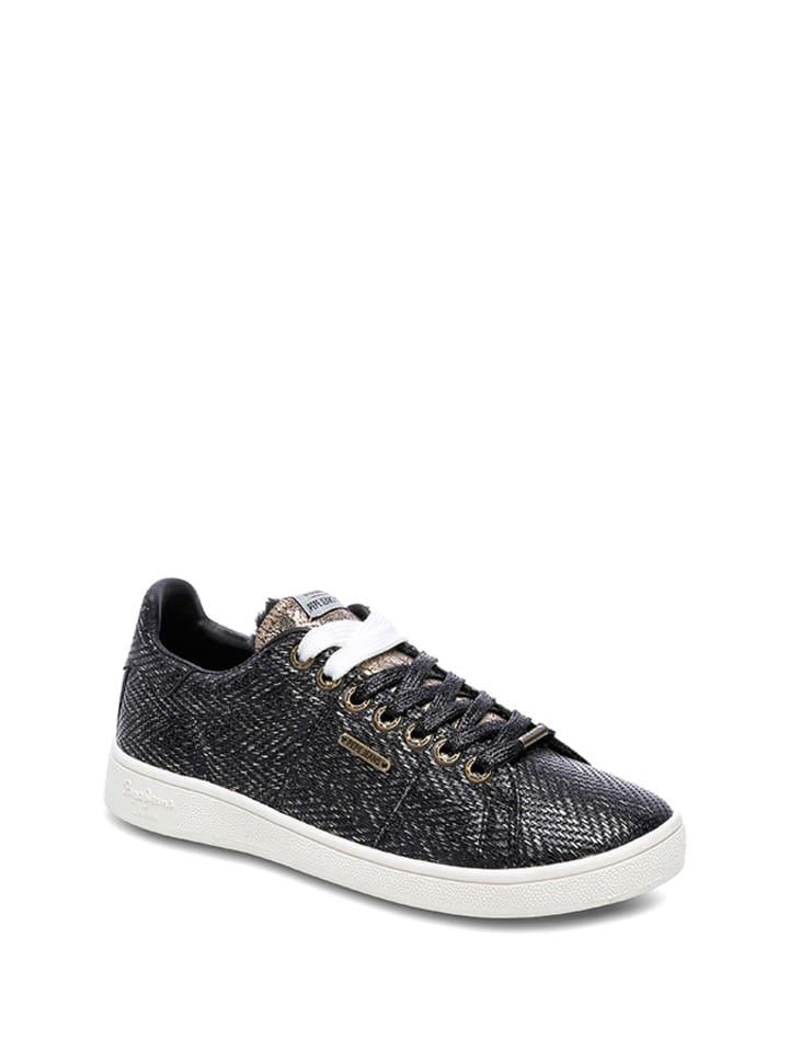 Pepe Jeans Sneakersy w kolorze czarno-srebrno-złotym