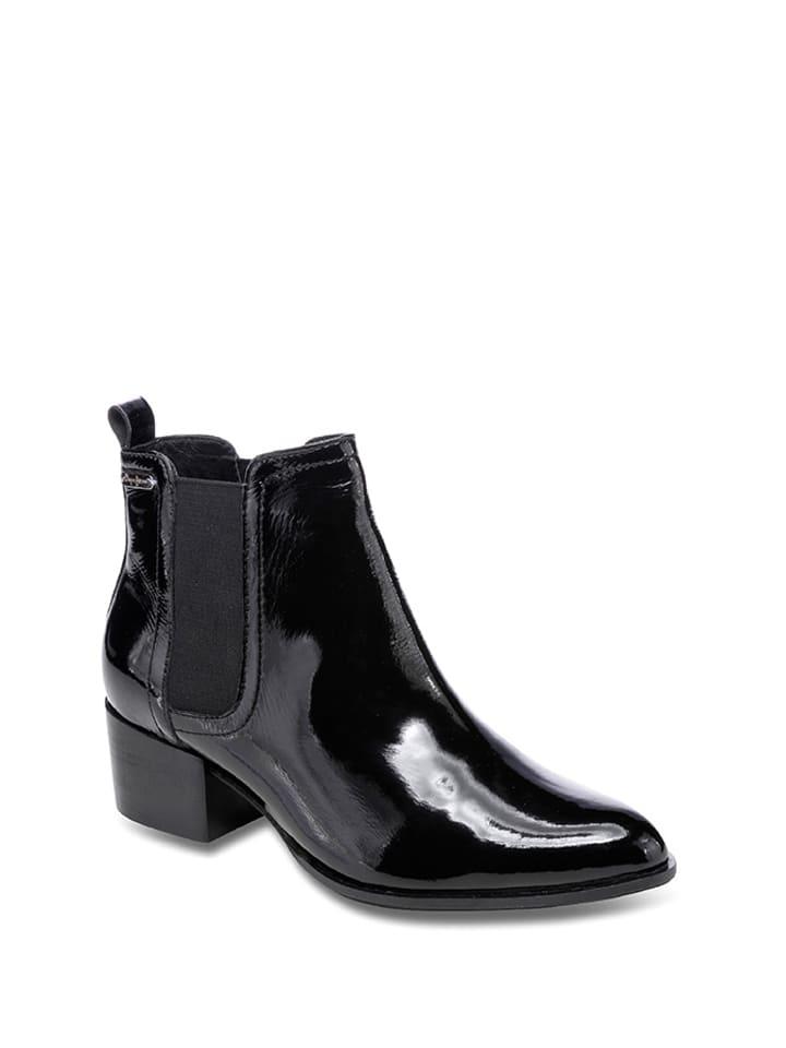 Pepe Jeans Skórzane sztyblety w kolorze czarnym