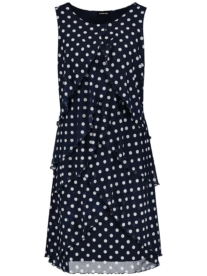 TAIFUN Sukienka w kolorze czarno-białym