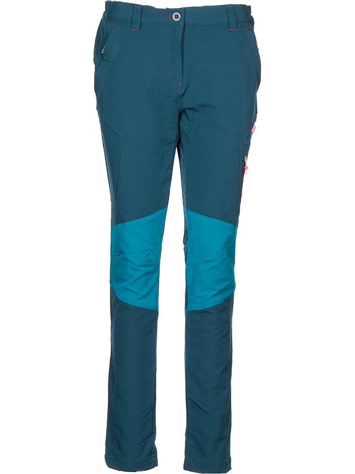 Regatta Spodnie softshellowe w kolorze morskim