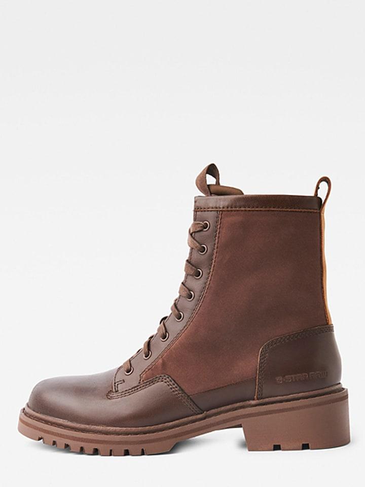 "G-Star Leder-Boots ""Core"" in Braun"