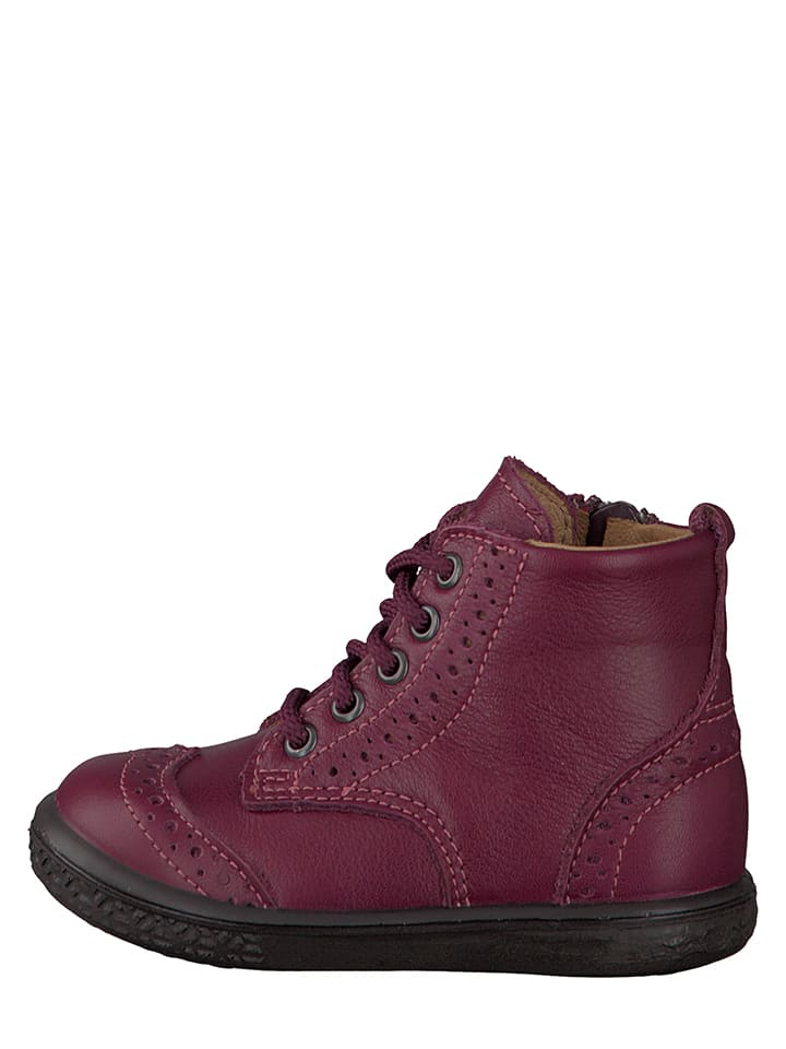 "PEPINO Leder-Sneakers ""Jenny"" in Fuchsia"