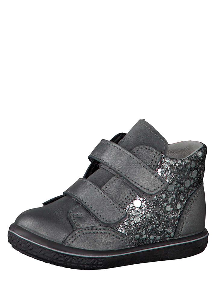 "PEPINO Leder-Sneakers ""Abbi"" in Grau/ Silber"