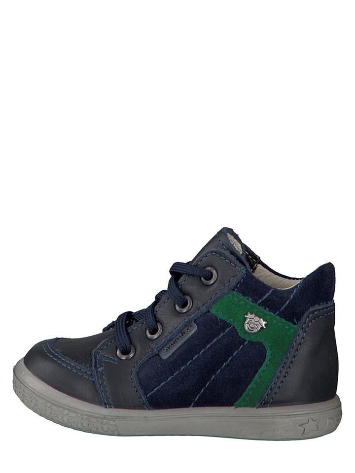 """PEPINO Leder-Sneakers """"Jesse"""" in Dunkelblau"""