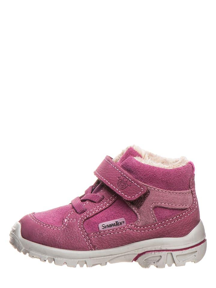 "PEPINO Leder-Sneakers ""Hike"" in Fuchsia"
