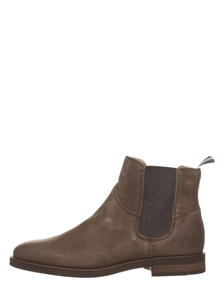 Marc O'Polo Leder-Chelsea-Boots in Taupe