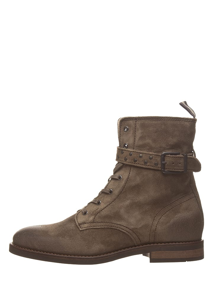 Marc O'Polo Leder-Boots in Braun