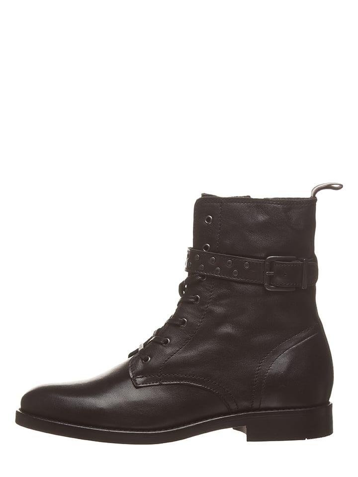 Marc O'Polo Leder-Boots in Schwarz