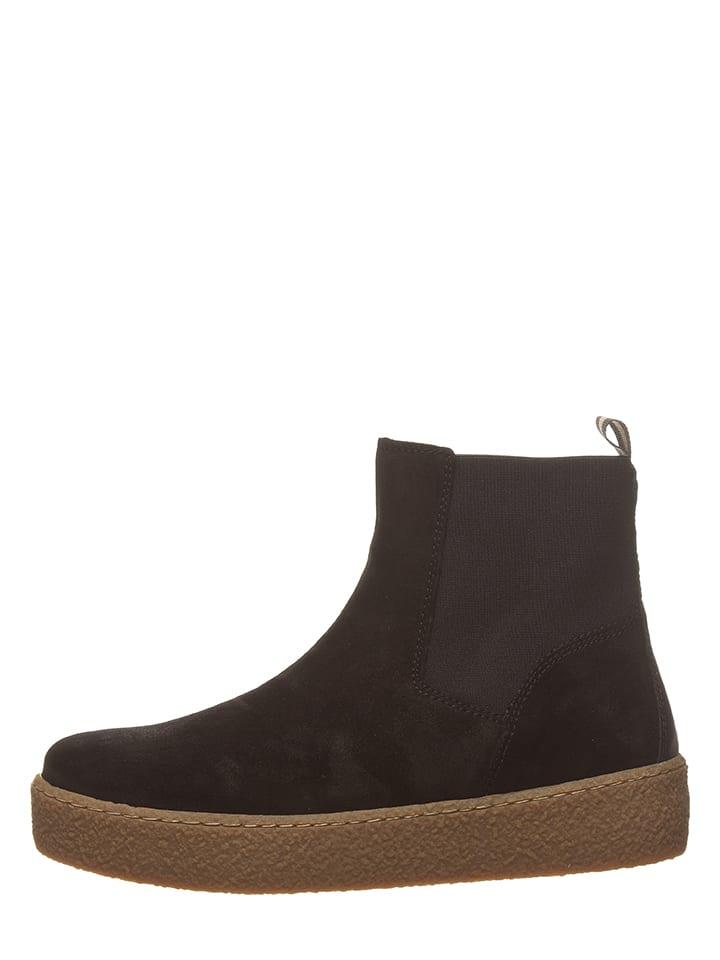 Marc O'Polo Leder-Chelsea-Boots in Schwarz