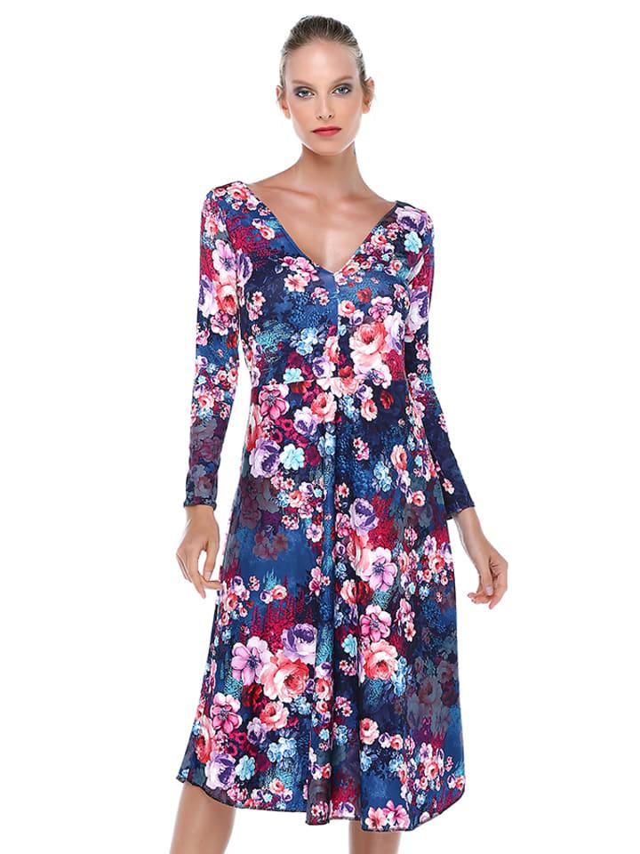 Quincey Sukienka w kolorze niebieskim ze wzorem