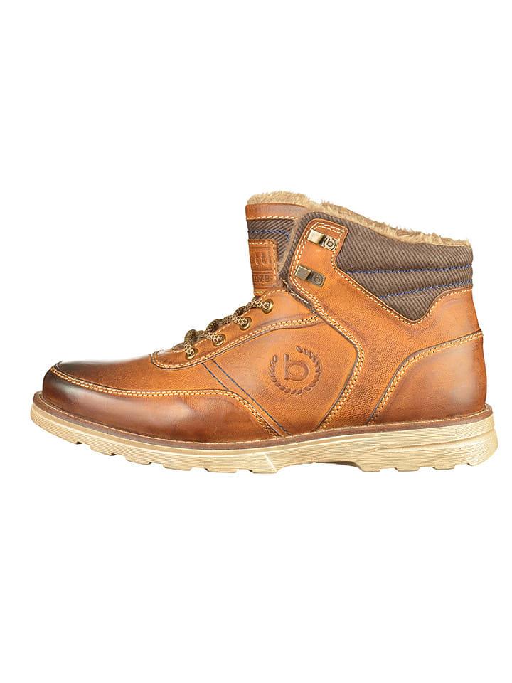 Bugatti Boots en cuir - marron clair