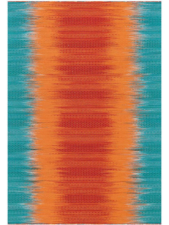 "Kayoom Woll-Teppich ""Sunset"" in Orange/ Blau"