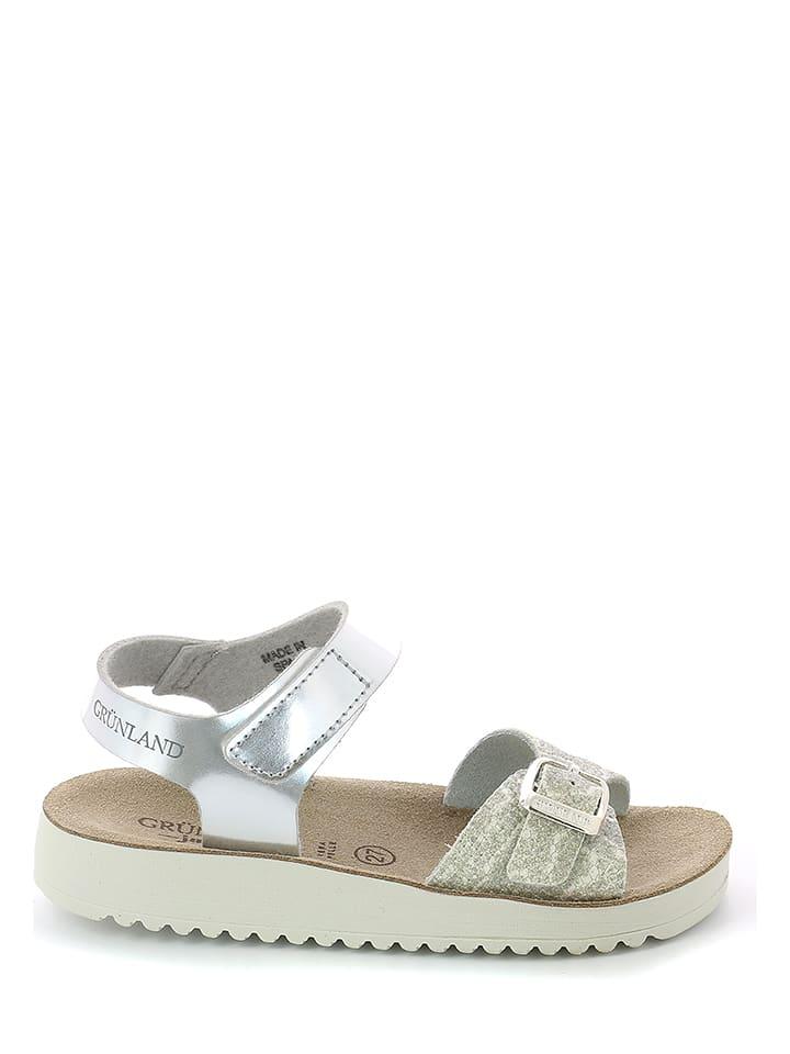 Grünland Junior Sandały w kolorze srebrnym