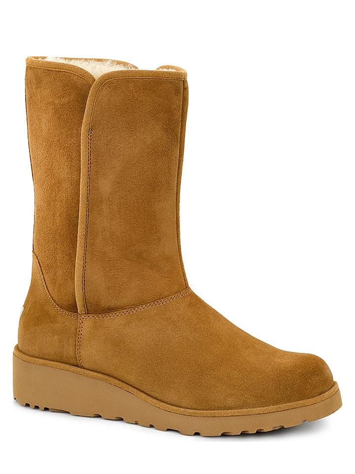 """UGG Leder-Boots """"Amie"""" in Cognac"""
