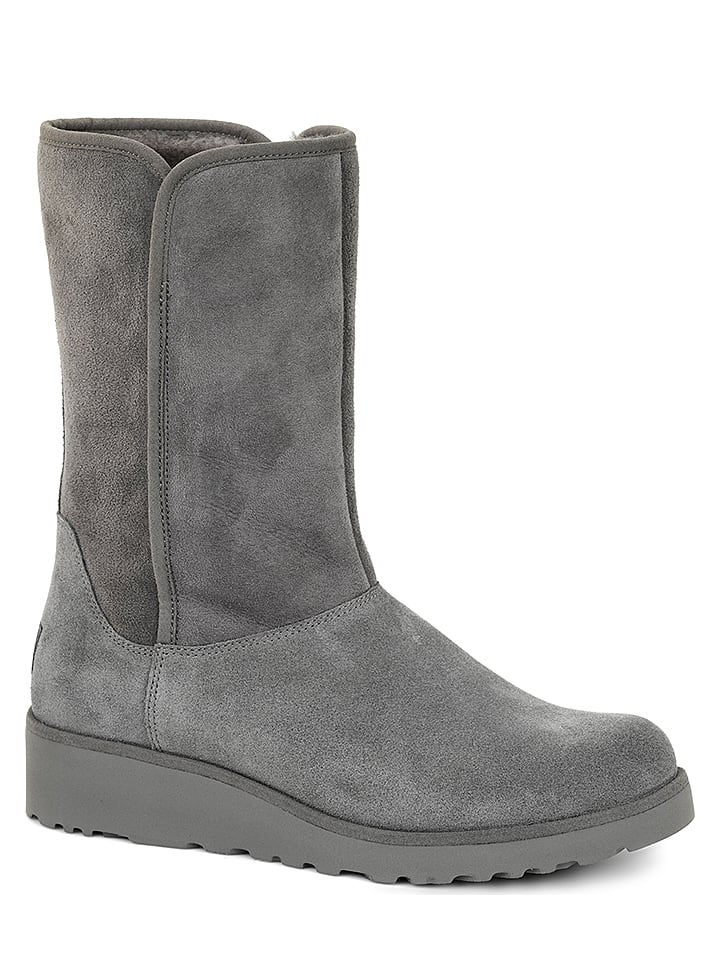 "UGG Leder-Boots ""Amie"" in Grau"
