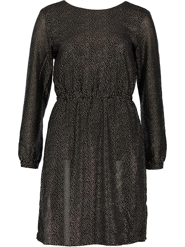 """Object Sukienka """"Hollie"""" w kolorze czarno-złotym"""