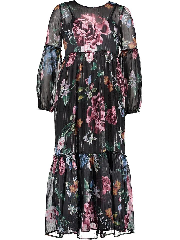 """Object Sukienka """"Ana"""" w kolorze czarnym ze wzorem"""