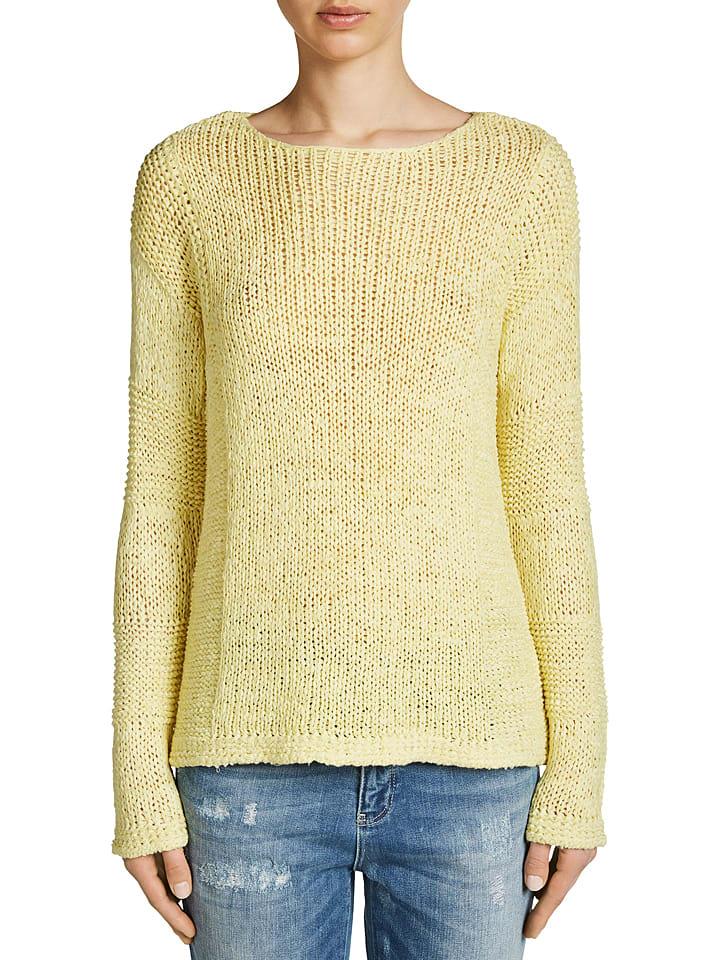 Oui Sweter w kolorze jasnożółtym