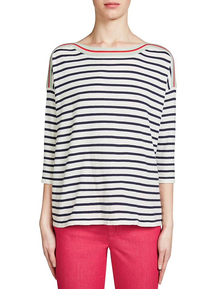 Oui Sweter w kolorze czarno-białym