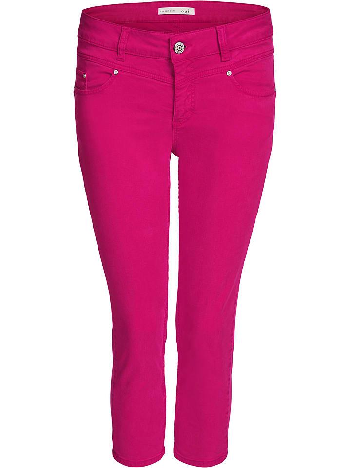 Oui Dżinsy - Slim fit - w kolorze różowym