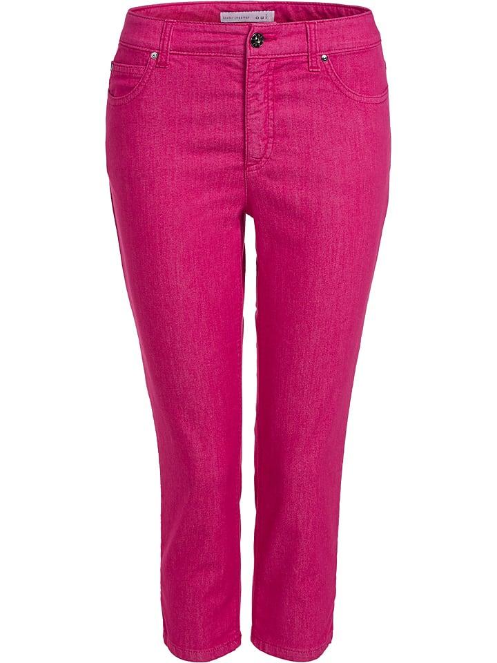 Oui Jegginsy - Slim fit - w kolorze różowym
