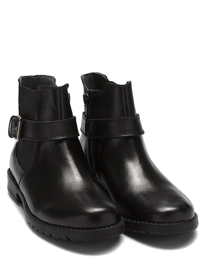 Lelli Kelly Skórzane botki w kolorze czarnym