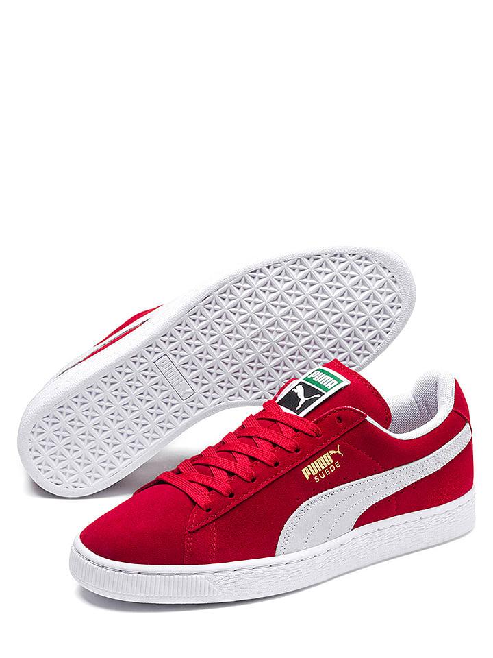 """Puma Shoes Baskets en cuir """"Suede Classic"""" - rouge"""