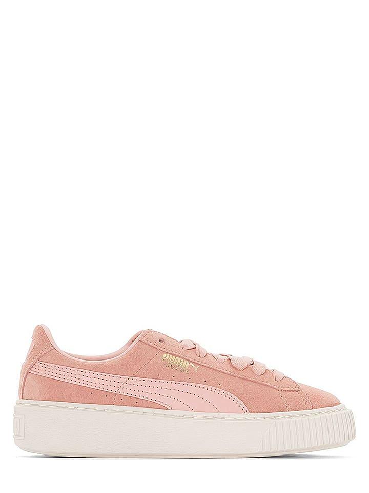 "Puma Shoes Baskets en cuir ""Suede Platform"" - rose"