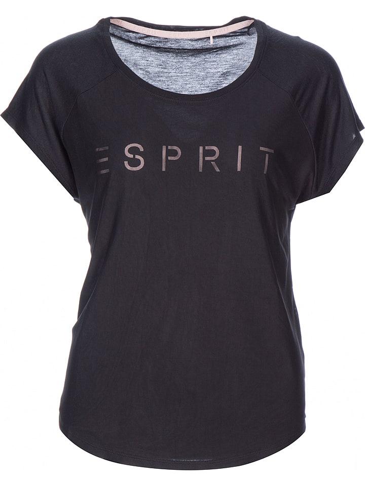 ESPRIT Koszulka w kolorze czarnym