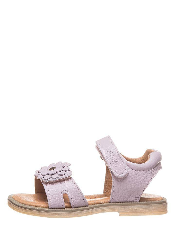 Lamino Skórzane sandały w kolorze fioletowym