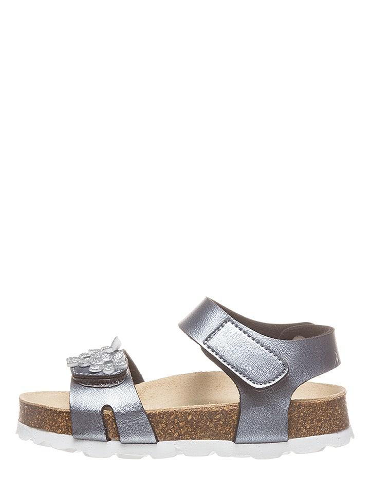 Lamino Sandały w kolorze srebrnym