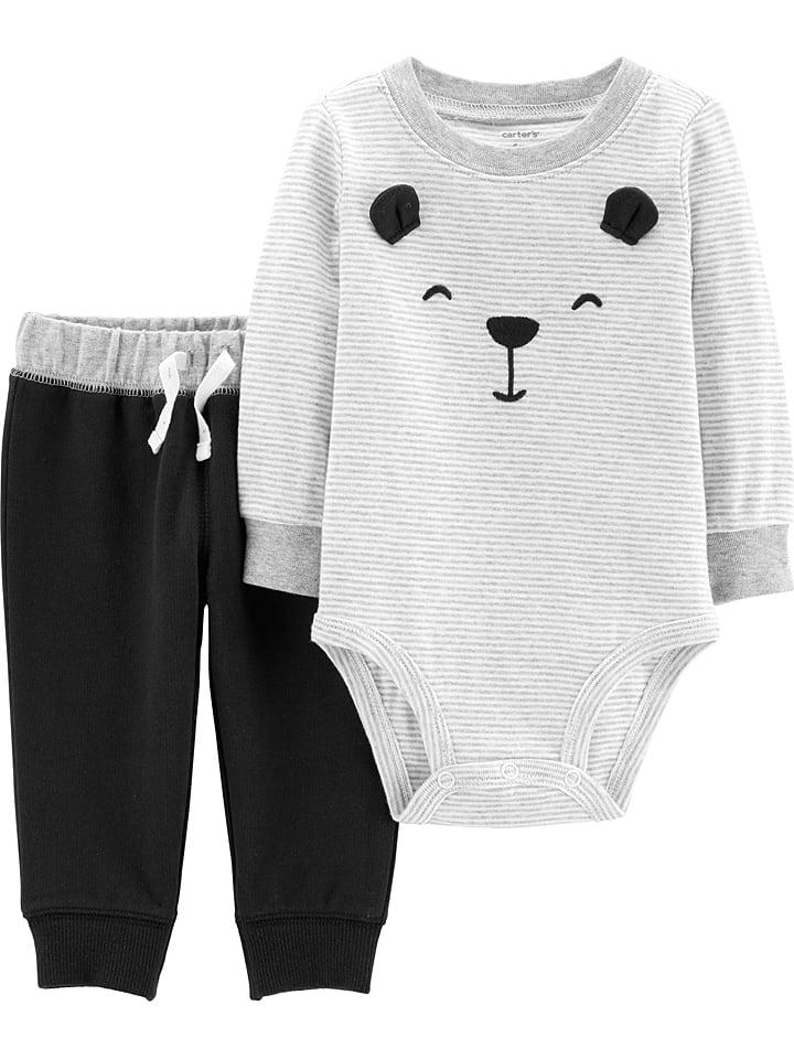 Carter's 2tlg. Outfit in Schwarz/ Grau