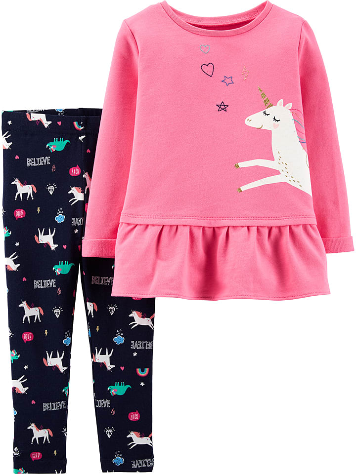 Carter's 2tlg. Outfit in Dunkelblau/ Rosa