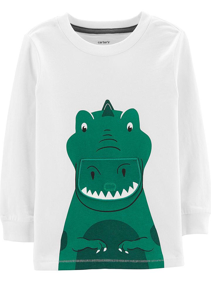 Carter's Bluza w kolorze zielono-białym