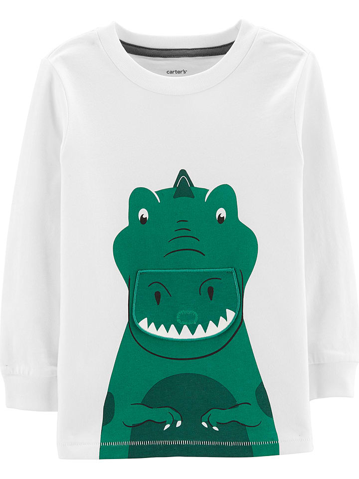Carter's Sweatshirt in Grün/ Weiß