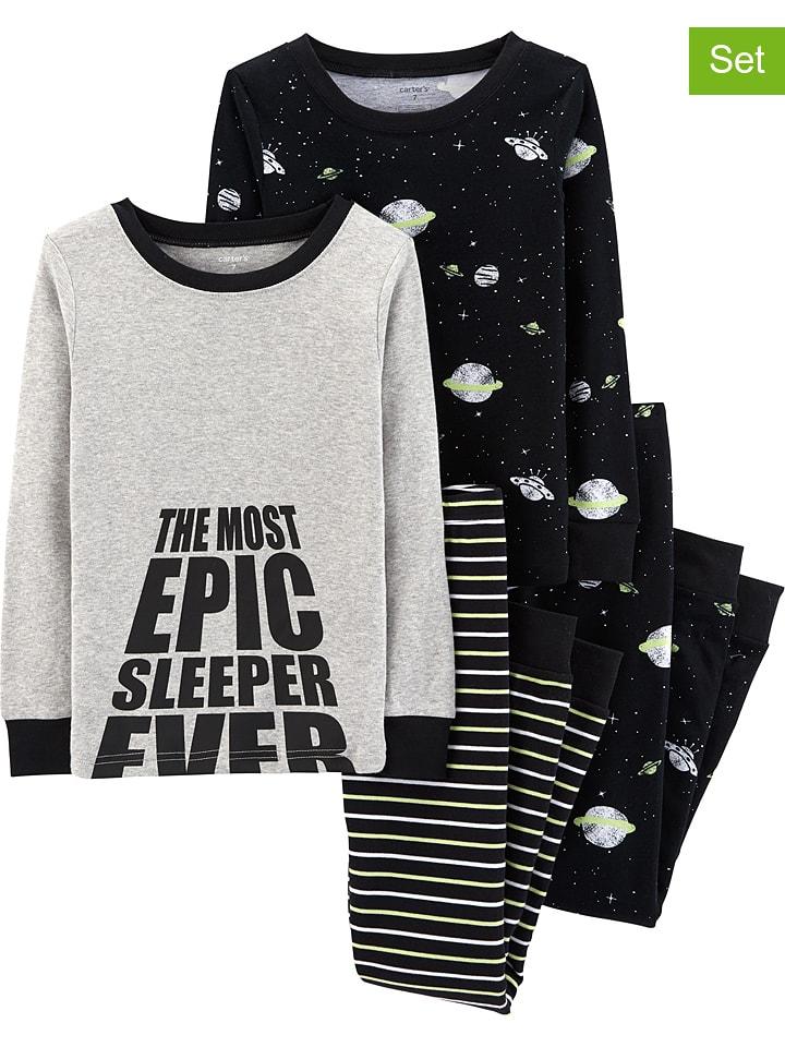 Carter's Piżamy (2 szt.) w kolorze czarno-szarym