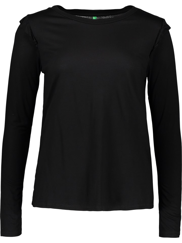 Benetton Longsleeve in Schwarz