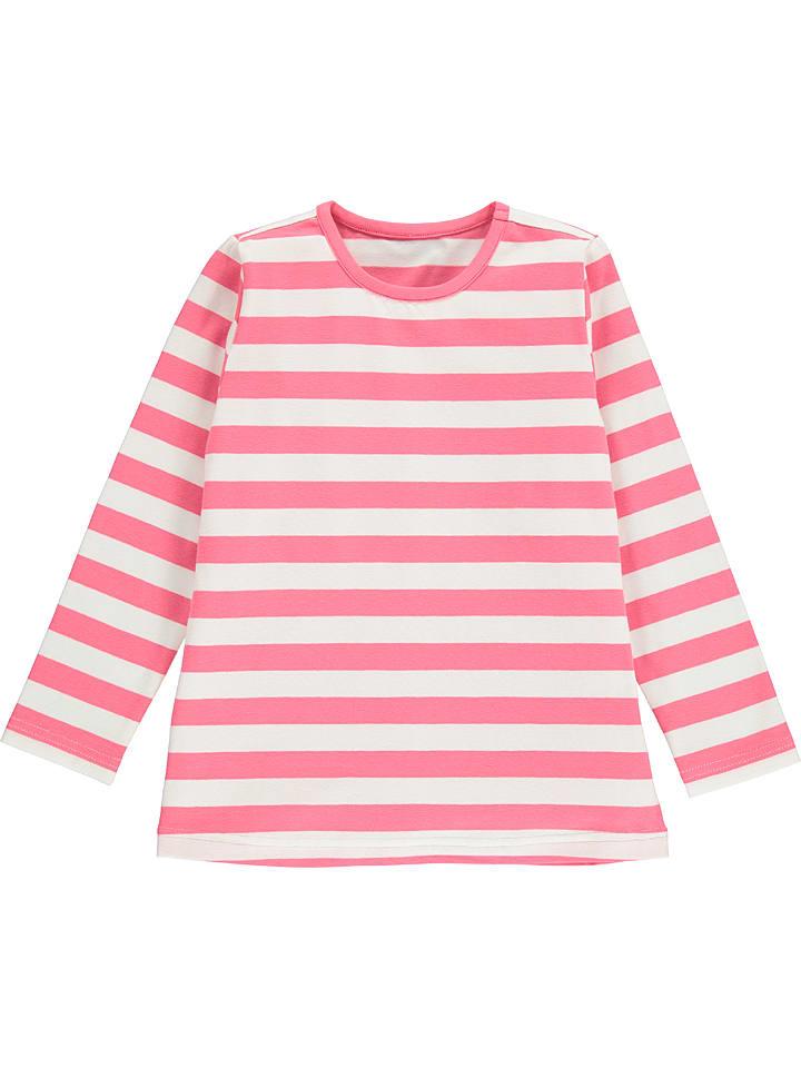 Lamino Longsleeve in Pink/ Weiß