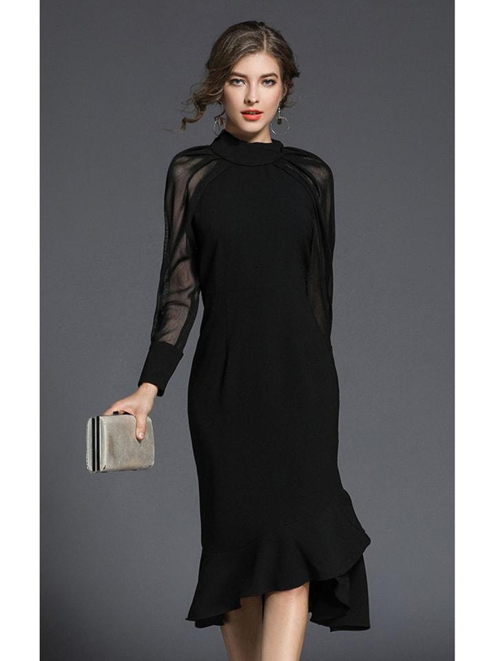 Kobiecy szyk Sukienka w kolorze czarnym